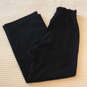 Uniqlo navy blue wide leg trousers